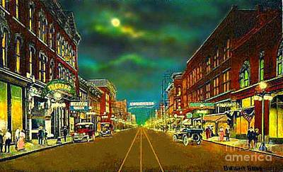Painting - Olympic Theatre In Bristol Tn And Va In The 1920's by Dwight Goss