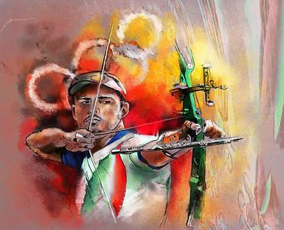 Art Miki Photograph - Olympics Archery 03 by Miki De Goodaboom