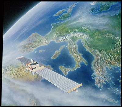 Comsats Photograph - Olympus Class Satellite by Julian Baum
