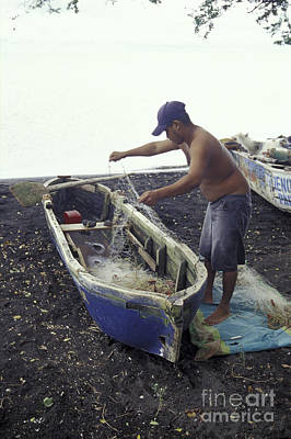 Photograph - Ometepe Fisherman 1 Nicaragua by John  Mitchell