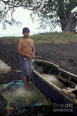 Photograph - Ometepe Fisherman 2 Nicaragua by John  Mitchell