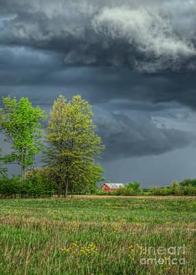 Ominous Sky Of Spring Art Print by Pamela Baker