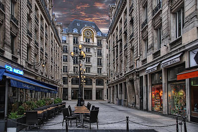 Clock Shop Photograph - on an early sunday morning in Paris by Joachim G Pinkawa