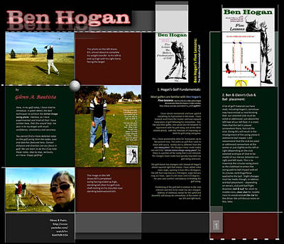 Digital Art - On Ben Hogan By Glenn P1 by Glenn Bautista