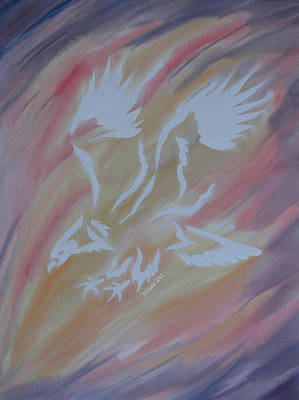 Mark Schutter Painting - On Eagles Wings by Mark Schutter