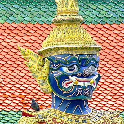 Travel Wall Art - Photograph - On Guard.. #thailand #travel by A Rey
