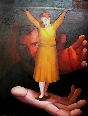Painting - On His Hands by Clotilde Espinosa