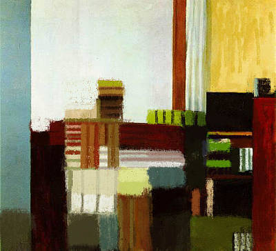 Painting - On Hopper1 by Roberto Perez