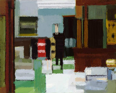 Painting - On Hopper2 by Roberto Perez
