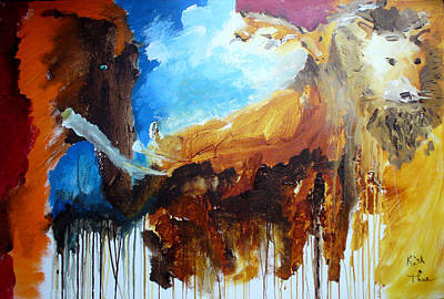 Painting - On Safari by Keith Thue