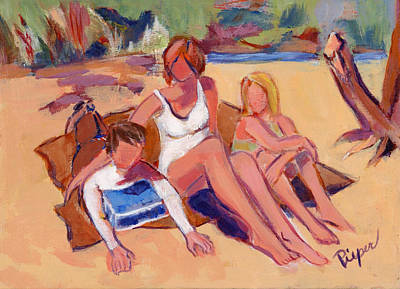 Painting - On The Beach by Elzbieta Zemaitis