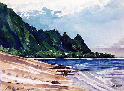 On The Beach Art Print by Jon Shepodd