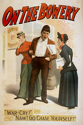 On The Bowery, A Salvation Army Soldier Art Print by Everett