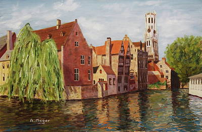 Painting - On The Canal by Alan Mager