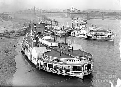 Steamboat Photograph - On The Cincinnati Levee 1905 by Padre Art