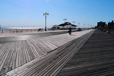 Photograph - On The Coney Island Boardwalk by Cornelis Verwaal