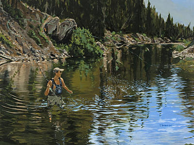 On The Deadwood River Art Print