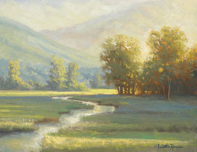 Cades Cove Painting - On The Edge Of Delight by Jonathan Howe