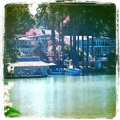 Apple Photograph - On The Lake - Lake Oswego Or by Anna Porter