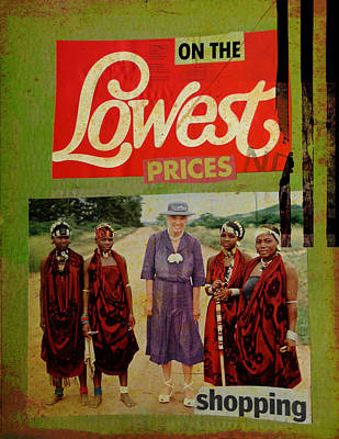 On The Lowest Prices Shopping Art Print by Adam Kissel