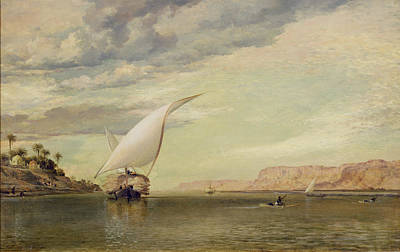 Williams Photograph - On The Nile by Edward William Cooke