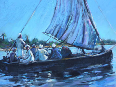 Pastel - On The Nile by Joan  Jones
