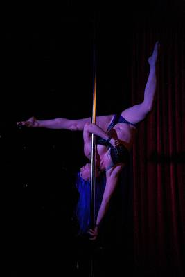 On The Pole Art Print by Lee Stickels