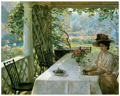 On The Porch Print by William Chadwick