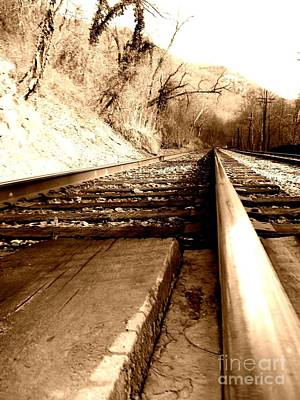 Art Print featuring the photograph On The Rail by Amy Sorrell