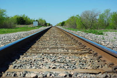 Photograph - On The Rails by Robyn Stacey