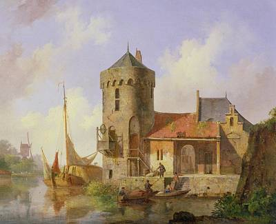 On The Rhine Art Print by Cornelius Springer