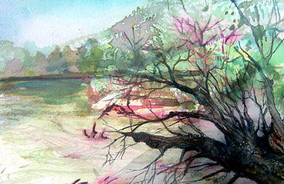On The River Art Print by Mindy Newman