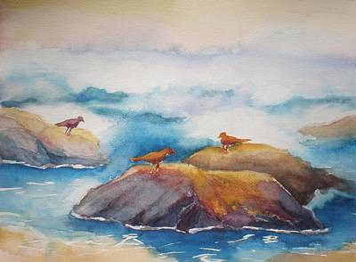 Painting - On The Rocks IIi by Lori Chase
