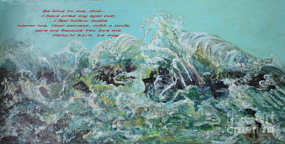 Art Print featuring the painting On The Rocks by Rita Brown