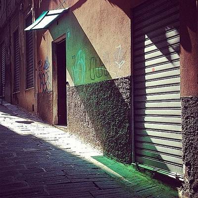 Old Wall Art - Photograph - On The Sunny Side Of The Street #italy by A Rey