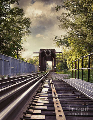 Photograph - On The Train Tracks by Sandra Cunningham