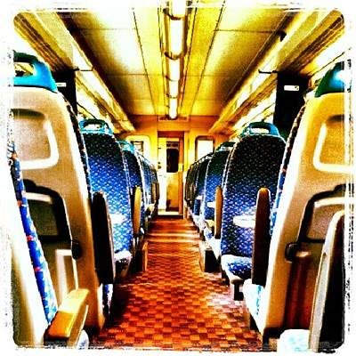 Norfolk Wall Art - Photograph - On The Train #train #seats #door by Invisible Man
