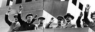 Nikita Photograph - On The Tribune Of The Lenin Mausoleum by Everett