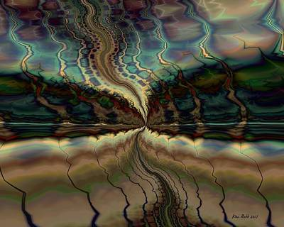 Art Print featuring the digital art On The Way To Somewhere by Kim Redd