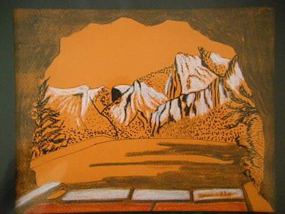 Yosemite National Park Mixed Media - On The Way To Yosemite by Anuradha Rajkumari