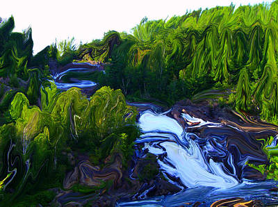 Mixed Media - Onaping Falls Abstract by Bruce Ritchie