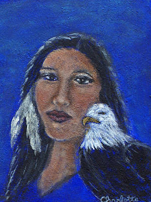 Onawa Native American Woman Of Wisdom Art Print by The Art With A Heart By Charlotte Phillips