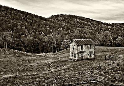 Farm Photograph - Once Upon A Mountainside Sepia by Steve Harrington