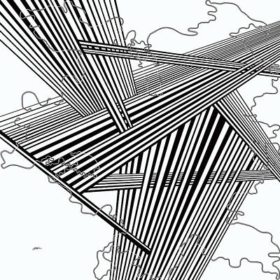 Optical Illusion Maze Painting - One 27 by Douglas Christian Larsen