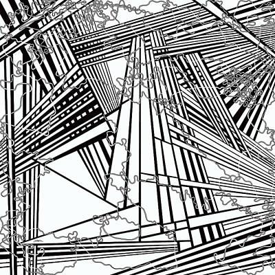 Optical Illusion Maze Painting - One 32 by Douglas Christian Larsen