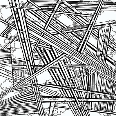 Optical Illusion Maze Painting - One 34 by Douglas Christian Larsen