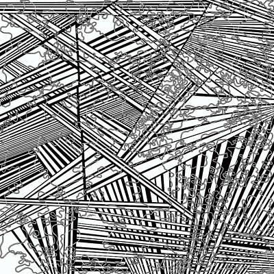 Optical Illusion Maze Painting - One 36 by Douglas Christian Larsen