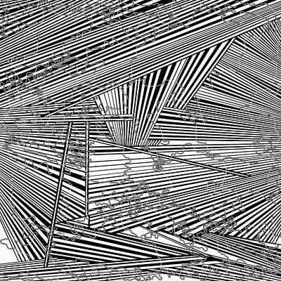 Optical Illusion Maze Painting - One 37 by Douglas Christian Larsen