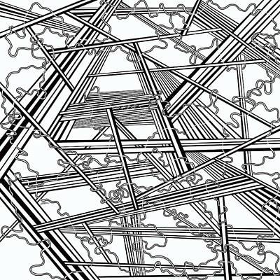 Optical Illusion Maze Painting - One 38 by Douglas Christian Larsen