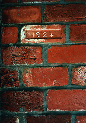One Brick To Remember - 1924 Date Stone Art Print by Steven Milner